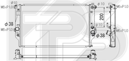 Радиатор охлаждения двигателя Toyota RAV4 (13-18) 2.0 D, М/А (Koyorad)