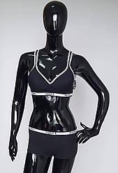 Спортивный комплект женского нижнего белья черного цвета