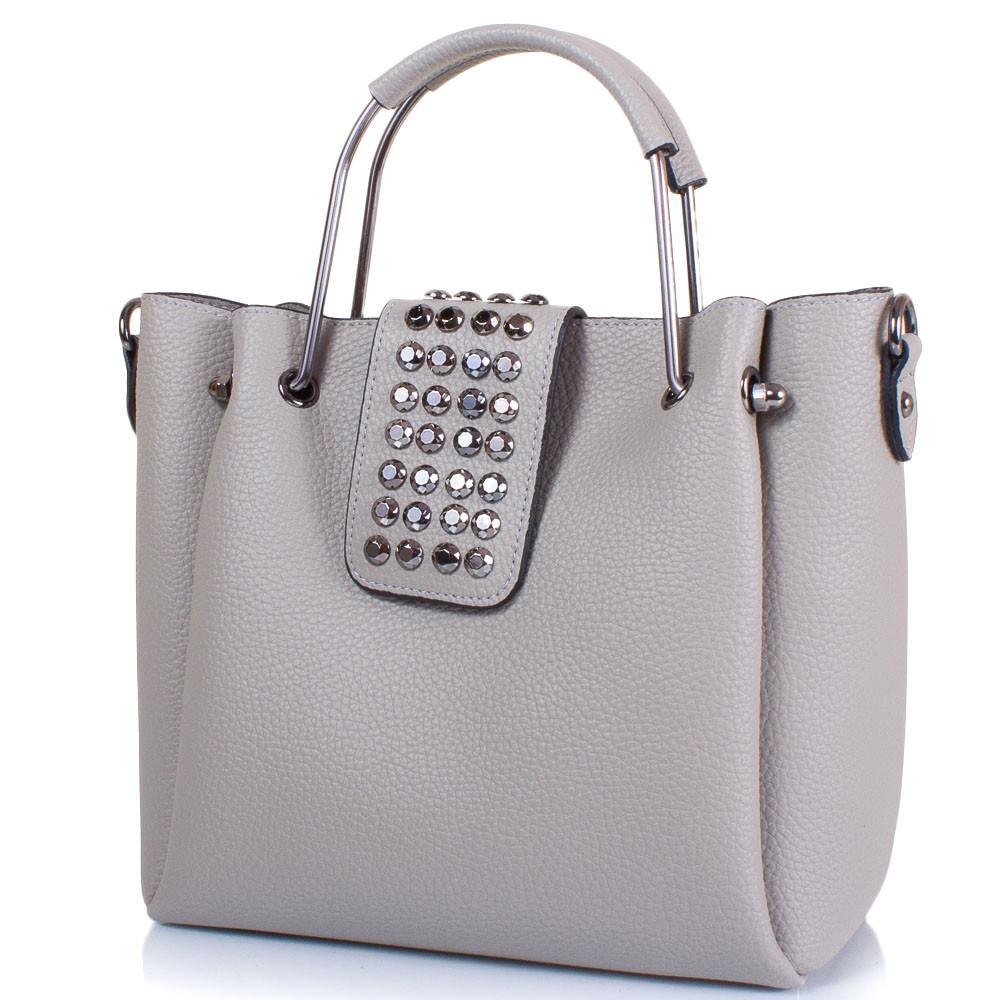 Женская сумка из качественного кожезаменителя Eterno, серый