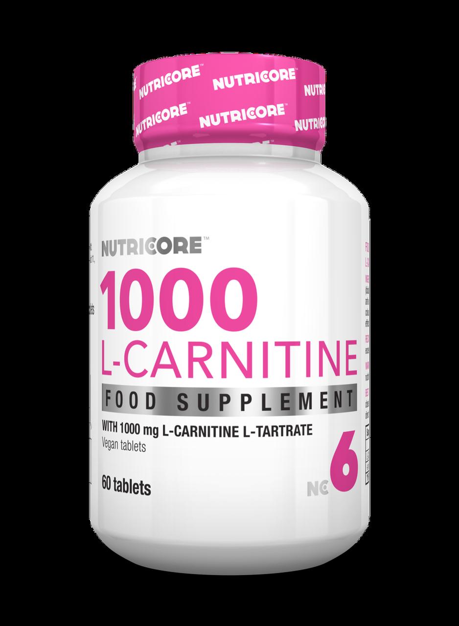 Жіросжігателя Nutricore L-Carnitine 1000 caps 60