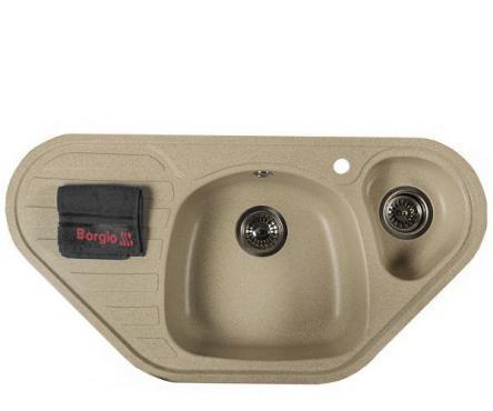 Мойка гранитная TRC-960x500 (бежевый)
