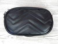 Сумка барсетка черная на пояс, фото 1