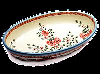 Овальная керамическая форма для выпечки и запекания малая 29 х 19 Scarlet, фото 1