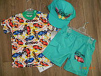 Летние комплекты для мальчика с кепкой на 1,2,3 года