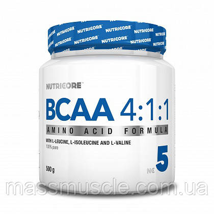 Аминокислота Nutricore BCAA 4:1:1 Unflavored 500 g