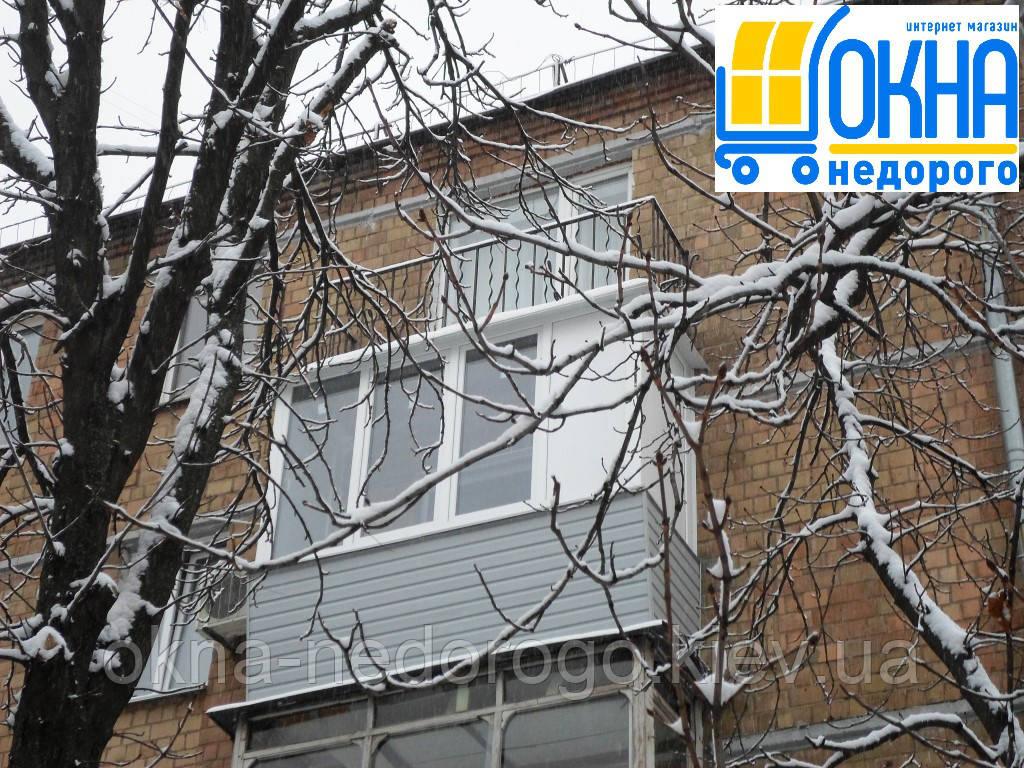 Een Winters Balkon : Балкон под ключ Вышгород ✓Качественно