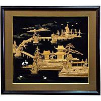 Картина из пробкового дерева (54*64 см) , Картины, Бабочки в рамке, Панно, Ключницы