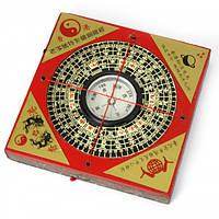 Компас деревянный квадратный  (8х8х1 см) , Магические предметы, Фен-шуй