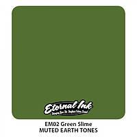 Краска для татуировочных работ Eternal  Muted Earth Tones . Green Slime 1/2 oz, фото 1