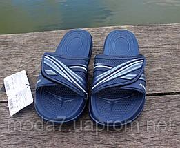 Шлепанцы мужские синие на липучке ATHLETIC, фото 2
