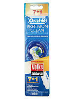 Precision clean EB17-7+1 (8 штук), насадки для зубной щетки Oral-B гигиена полости рта