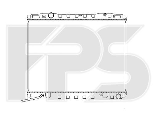 Радиатор охлаждения двигателя Kia Sorento (02-06) 2.4 МКПП (NRF)