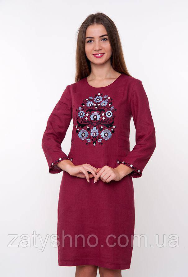 Вышиванка платья удобное на льне