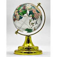Глобус хрустальный цветной (5)(9х6х6 см) , Изделия из хрусталя