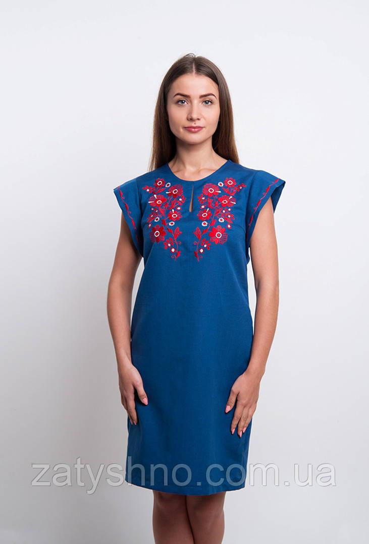 Летнаяя легкая вышиванка платье женское
