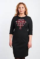 Большое платья вышитое черное
