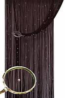 Кисея шторы нити Блистер 204+111