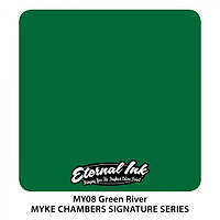Краска для татуировочных работ Eternal ink. Muke Chambers. Green River 1/2 oz, фото 1