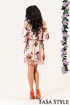 Платье на плечи с цветочным принтом, фото 3