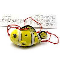 """Свистулька керамическая """"Рыба"""" желтая (8,5х6х4 см) , Музыкальная коллекция"""