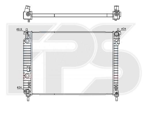 Радиатор охлаждения двигателя Chevrolet Captiva, Opel Antara(06-