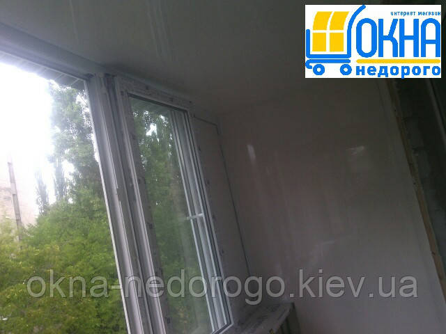 Балкон под ключ Бровары - отделка балкона пластиком