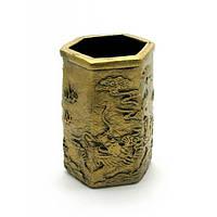 """Подставка для ручек """"Драконы"""" под бронзу (11х7х8 см) , Визитницы и канцтовары"""