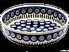 Керамическая форма круглая для выпечки и запекания 24 Перо павлина