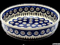 Керамическая форма круглая для выпечки и запекания 24 Перо павлина, фото 1