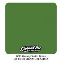 Краска для татуировочных работ Eternal ink. Liz Cook Series. Granny Smith Green  1/2 oz, фото 1