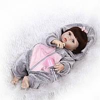 Кукла реборн 57 см полностью виниловая девочка Полина