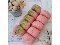 Пряжа для вязания Gazzal ORGANIC BABY COTTON (органик беби котон) гипоаллергенный хлопок -425 розовый