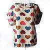 """Блуза с коротким рукавом """"сердца на бежевом"""" Liva Girl"""