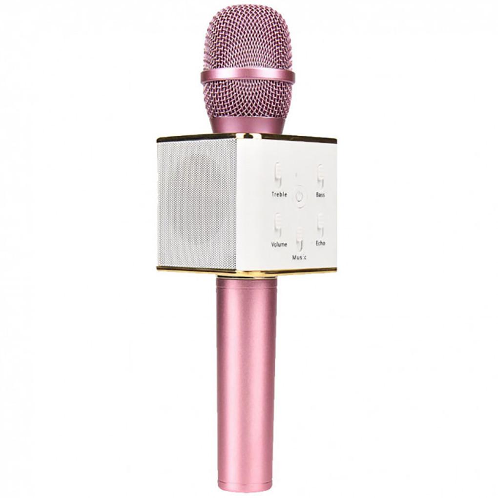 Микрофон караоке bluetooth Q7 Tp Розовый