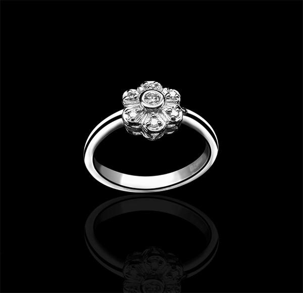 Золоте кільце з діамантами С18Л1№16