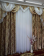 Ламбрекен со шторами для большой комнаты, фото 1