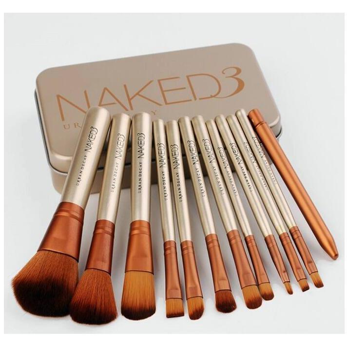 Набор косметических кистей Naked 3  (12 предметов)