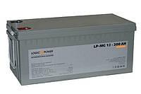Аккумулятор мультигелевый Logicpower LP-MG 12V 200AH, (AGM) для ИБП