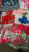 Повязка  детская декорированная цветами из ткани и жемчужинами для девочки