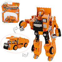 Трансформер стройтехника - грузовик самосвал, металл + пластик, робот - машина, SY6078A-5