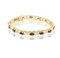 Браслет из желтого золота с драгоценными камнями С18Л1№32