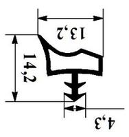 Уплотнитель для деревянных межкомнатных 12мм под паз 3-3,5мм