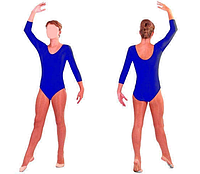 Купальник для художественной гимнастики синий L (34-36)