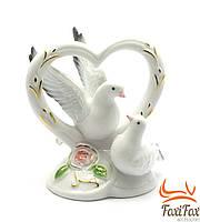 """Фигурка """" голуби с сердцем"""" 11 см"""