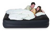 64124 надувная кровать со встроен.насосом 203*152*42см