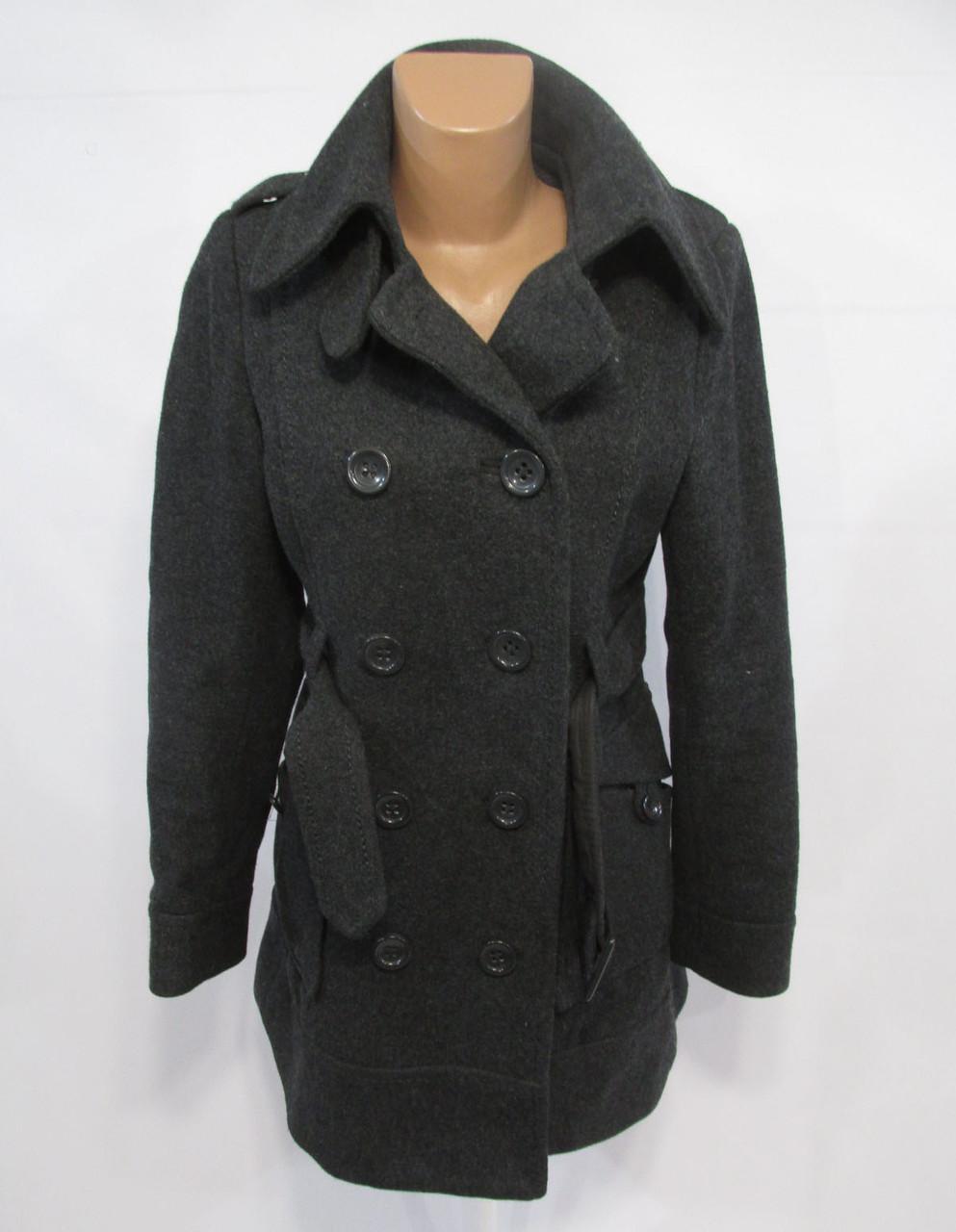 Пальто H&M, шерстяное, т.серое, 38 (S), Как Новое!