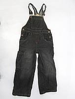 Комбинизон джинсовый детский, 4 года (~104 см), мин следы носки, Уценка!