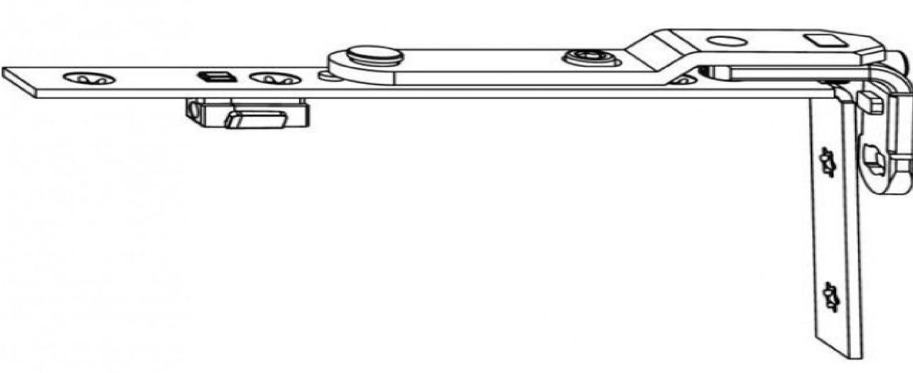Верхняя поворотная петля MACO TREND на створке