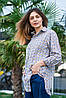 Женская рубашка в клетку, размеры S - XL, фото 2