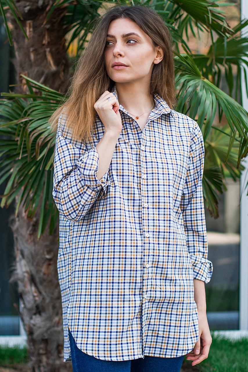 Женская рубашка в клетку, размеры S - XL